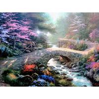 يدويا النفط الطلاء جسر الإيمان الحديقة المناظر الطبيعية الفن الحديث قماش اللوحات لغرفة ديكور عالية الجودة