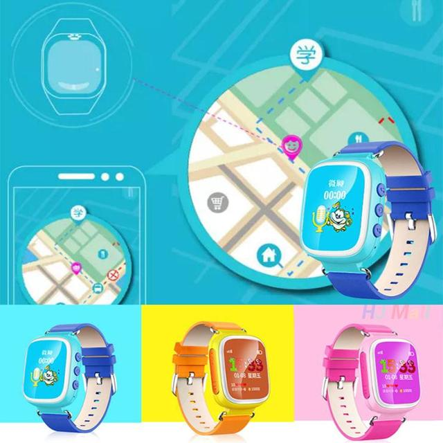 Q80 Smart Watch Phone Call Сети Позиционирования Будильник smartwatch дети дети наручные часы Подключения Для Iphone Android телефон