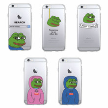 For iPhone 11 Pro Max 7 7Plus 6 6S 6Plus 8 8Plus X 5 5S SE XS Max Pepe Memes Sad Frog Soft TPU Phone Case Cover Coque Fundas(China)