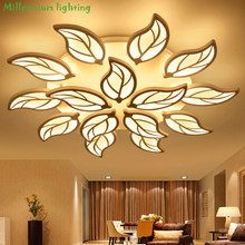 Modern living room ceiling lighting Acrylic bedroom Restaurant chandelier ceiling indoor home fixtures white AC90-260V QianXia(China)