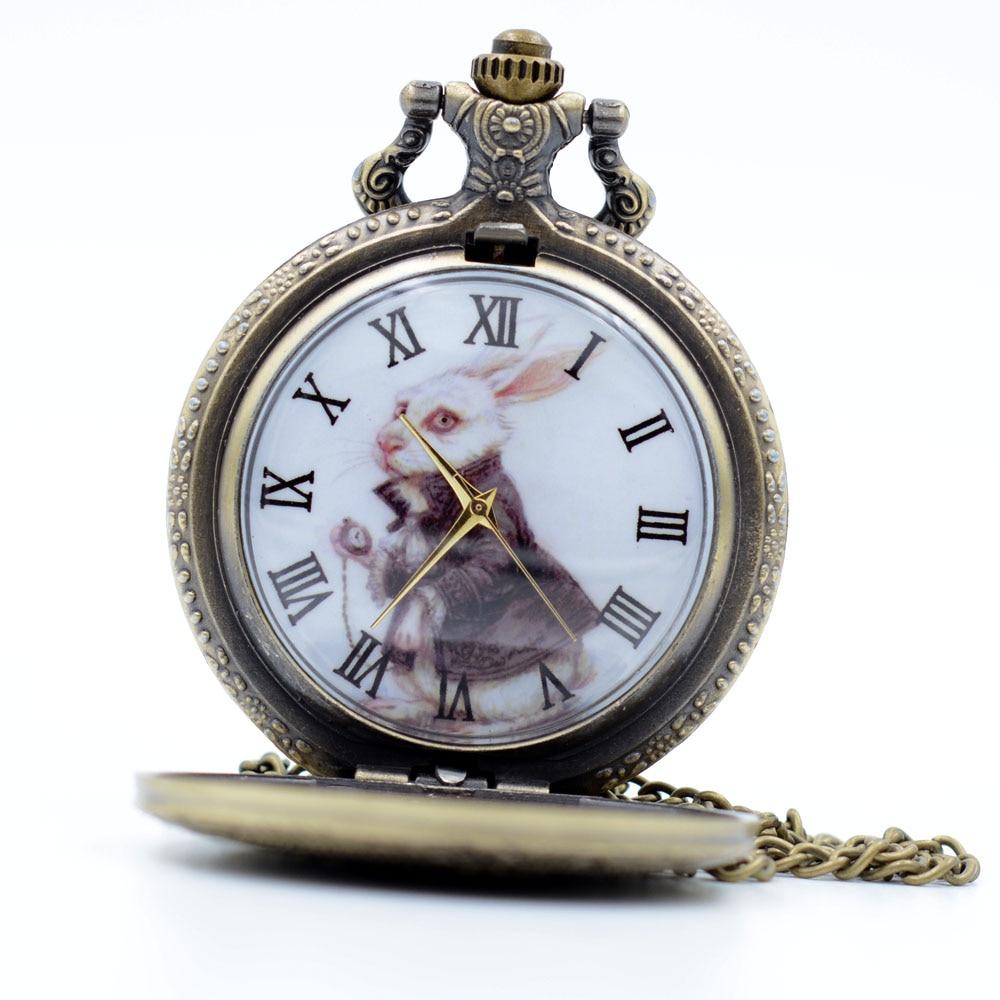 Vintage Bronze Alice in Wonderland The White Rabbit Dial ...