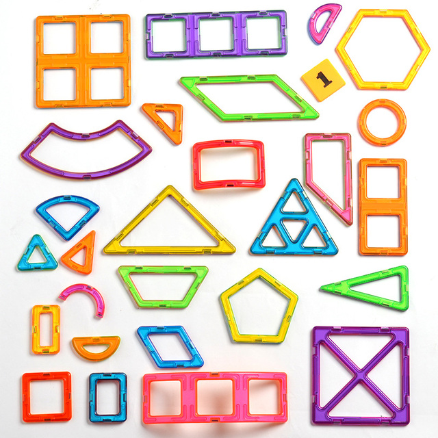 150pcs Big Size Magnetic Construction Set Magnetic Designer for Children plastic Magnetic Blocks Educational Toys For Kids