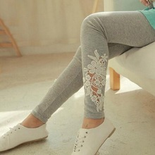 Slimming Leggings for Women Girls Fashion Lace Hollow Out Flowers Printed leggins Leggings Skinny Pants High Elasticity