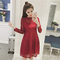 2017 New Maternity Dresses For Women Loose Spring Autumn Pregnant Clothing Fashion Maternity Lace Dress Big Size XXL XXXL