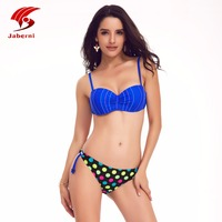 New Sexy Polka Dot Bikini Push Up Swimwear Women Swimsuit Halter Top Biquini Swimsuit Beach