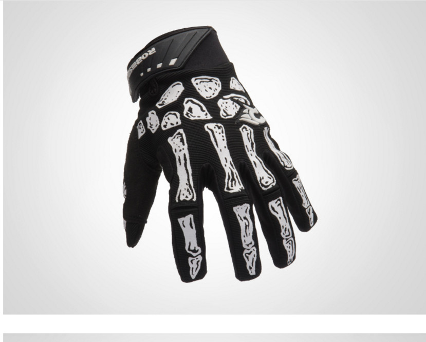 Nuevo negro Skull Claw Glove Racing Motorcycle Bone Skeleton Bicycle - Ropa deportiva y accesorios
