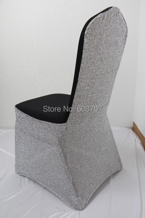 black glitter chair covers baby dining silver lycra banquet standard cover for wedding use 100pcs free shipping in from home garden on aliexpress com alibaba group