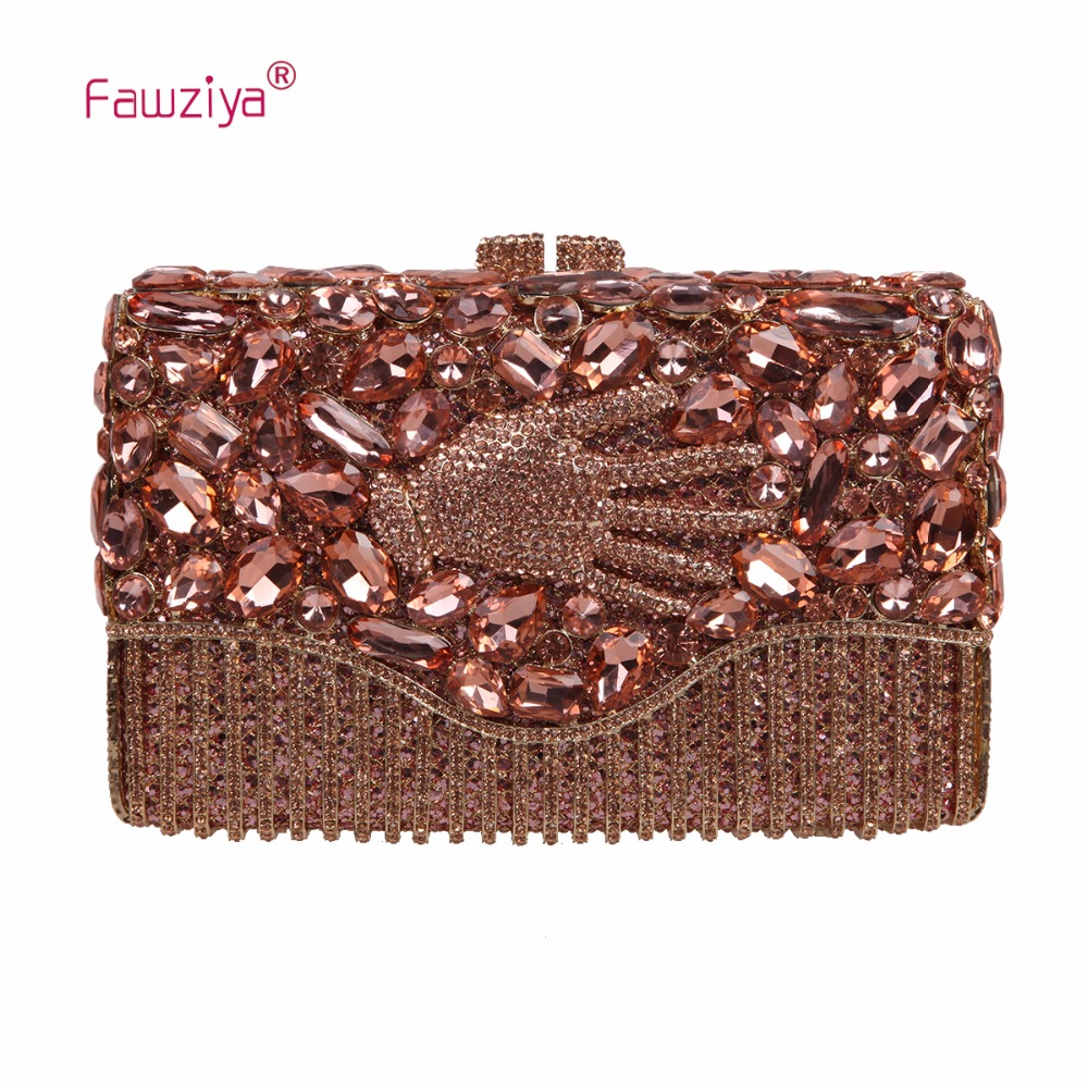 Fawziya Bag Diamond Hand Purse For Womens Evening Bag Hard Case Rhinestone Clutch