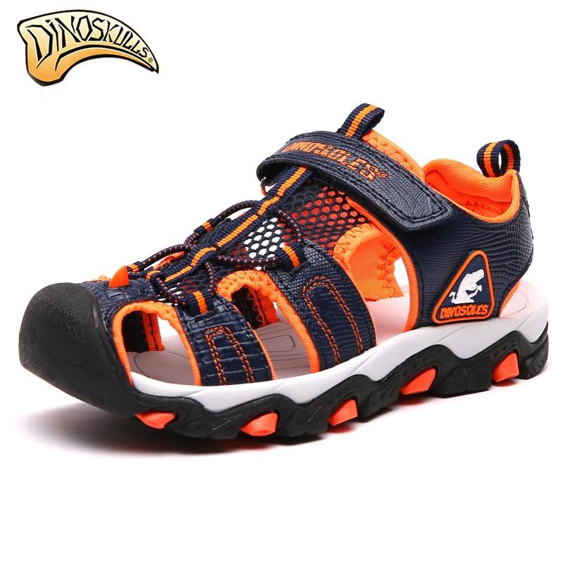 Dinoskulls Boys Summer Sandals Kids Children Teenage Summer Shoes Sandales Enfant Light Soft Sandals sandales garcon 31-36