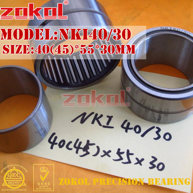 ZOKOL bearing NKI40/30 Entity ferrule needle roller bearing 40(45)*55*30mm nk15 12 heavy duty needle roller bearing entity needle bearing without inner ring 644800k size 15 23 12 jh145 cg125 cg150