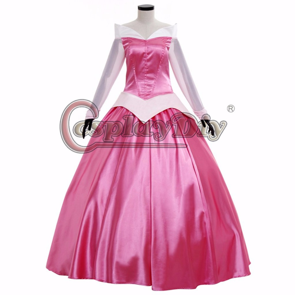 Custom Made Women's Sleeping Beauty Princess Dress Pink Dress with Cloak Costume Cosplay for Carnival Party