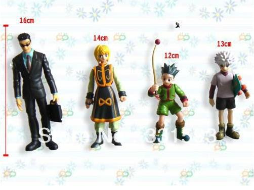 Free Shipping Anime Hunter x Hunter PVC Action Figure Toys set of 4 OTFG020