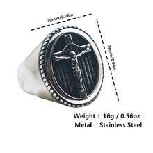 Унисекс 316L с Иисусом из нержавеющей стали христианский крест кольцо новое поступление