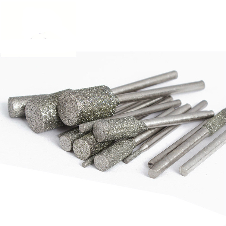 5Pcs/set 3*3/4/5/6/8mm Shank Diameter 3mm Cylindrical Graphite Rod Polished Diamond Grinding Needle Grinding Carving Tool