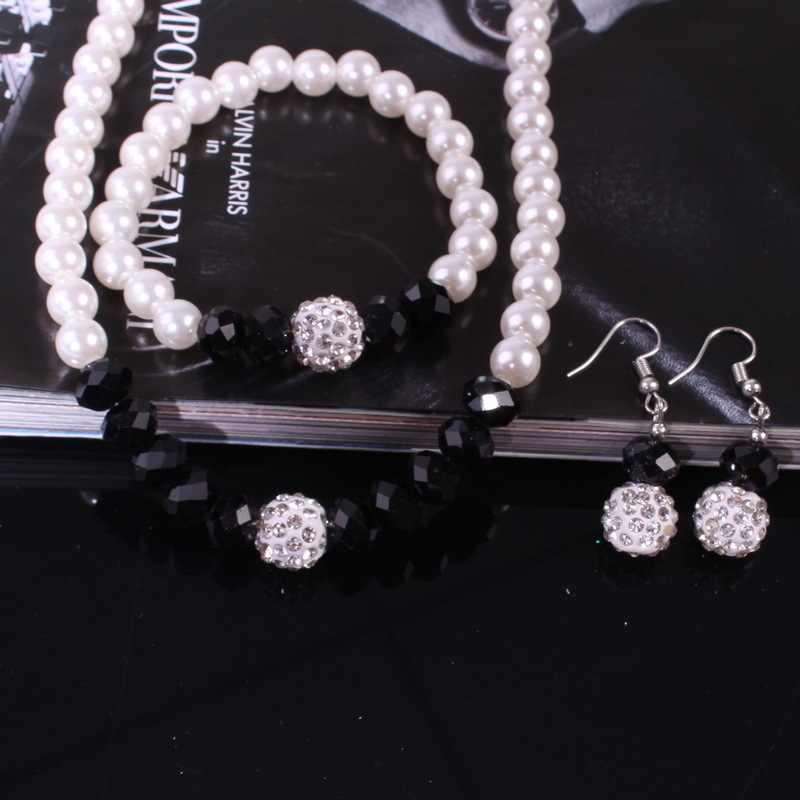 Модные женские многоцветные жемчужные ожерелья в европейском стиле, браслет для девочек, ювелирные аксессуары, свадебный подарок