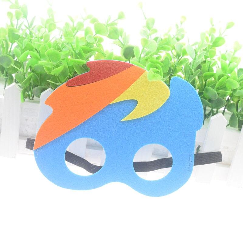 Máscara Super Rainbow Herói Bonito Hulk Avengers Thor Máscara Crianças Da Menina do Menino Traje Star Wars Xmas DIY Máscara Masquerade Eye cosplay Nova