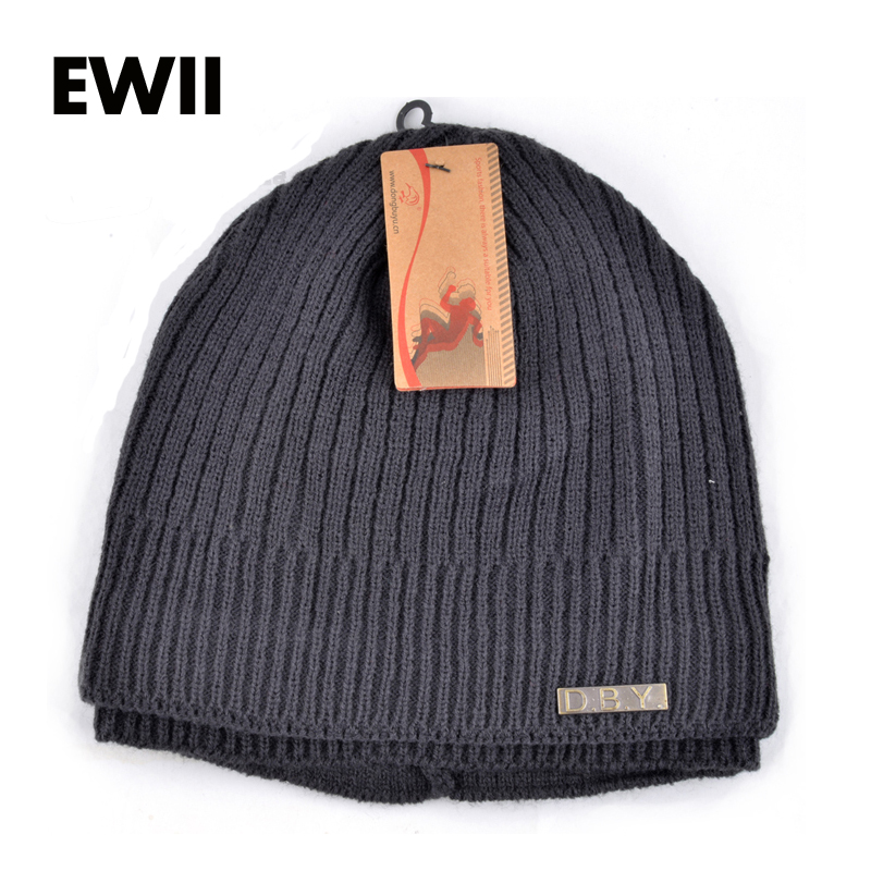 Fashion autumn winter knitted hats for men's bonnet skullies boy beanies caps men beanie cap boy knit hat gorro bone 1 pcs autumn winter hot sell knitted cap brand skullies beanies hats for men caps 4 colors 8514