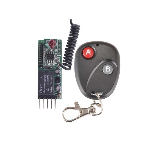 12V 1CH Max Load 250V 3A Mini wireless switch receiver Board with remote control Momentary Non