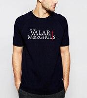 Hot Sale Game Of Thrones Valar Morghulis Printes T Shirt 2016 Summer Fashion Casual Short Sleeve