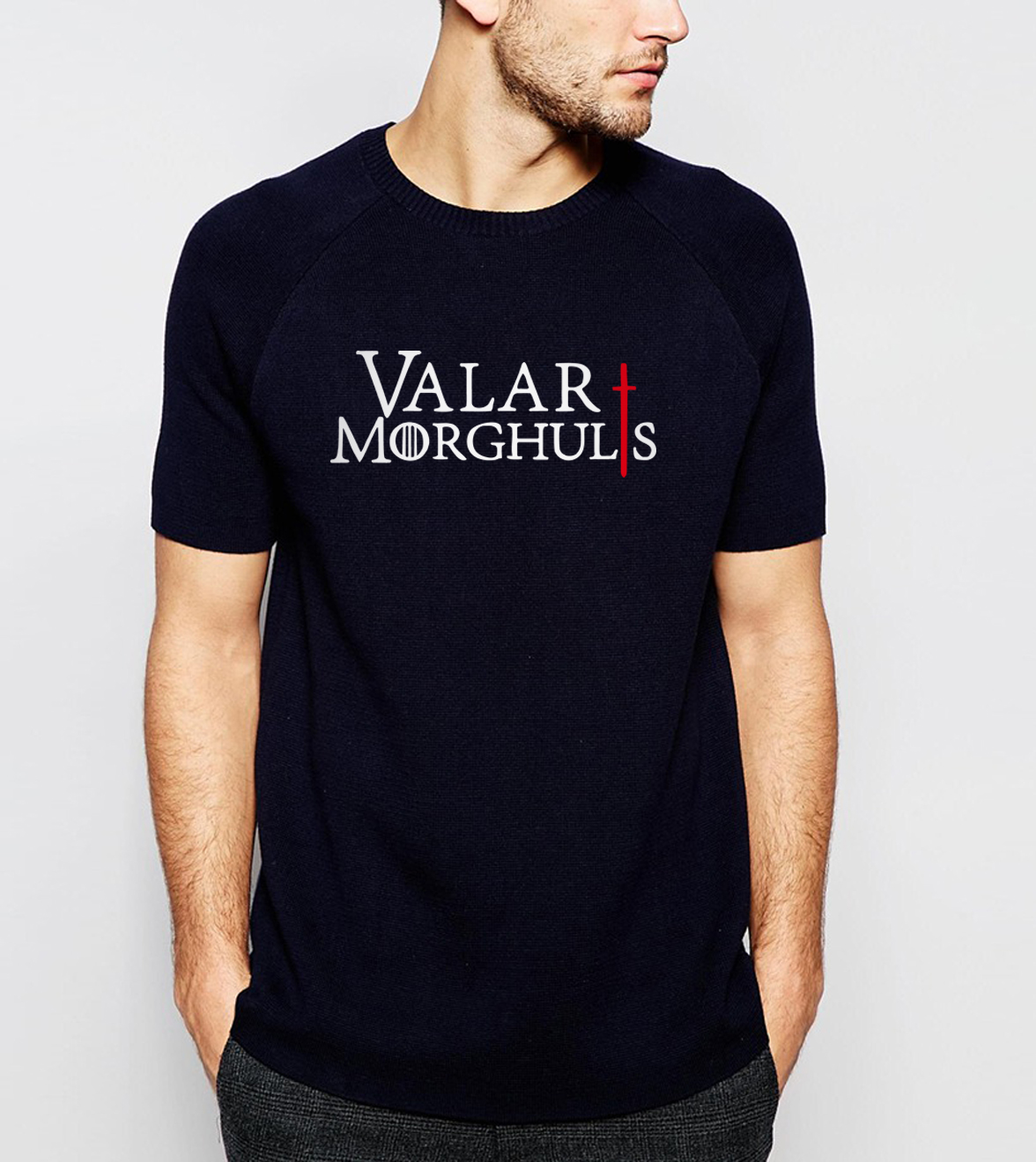 hot sale Game of Thrones Valar Morghulis Printes   T  -  shirt   2019 Summer Fashion Casual Short Sleeve O-neck Men   T     shirts   100% Cotton