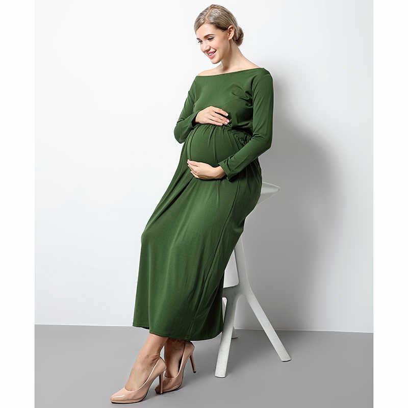 05bafcdd78dbb ... Maternity & Pregnant Long Dress for Photography Props Spandex Casual Elegant  Dresses Photo Shoot Women Pregnancy ...