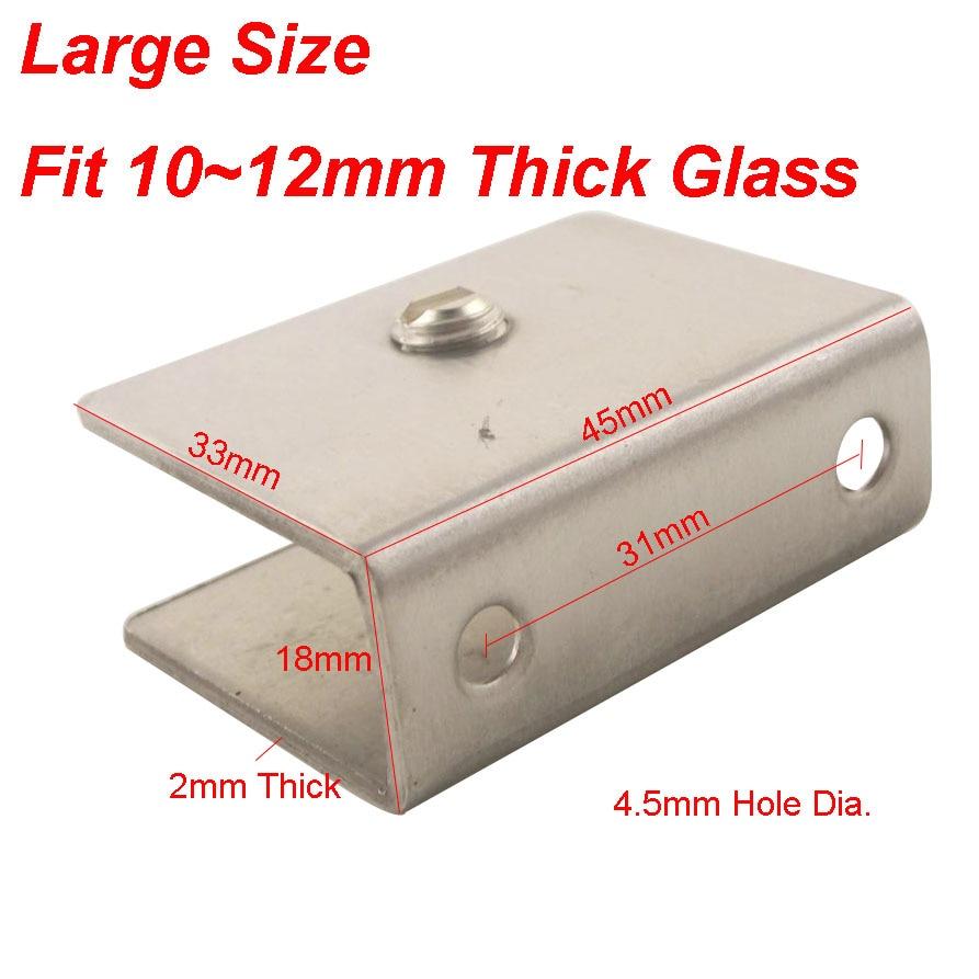 4 stücke Edelstahl Glas Clamp Fit 10 ~ 12mm Dusche Glas Clip Regal ...