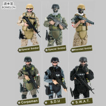 1/6 Toy Soldiers Action Figures Set Uniform Army Figures Jointed Doll Military Soldier Model Boys Toys For children Gift цена