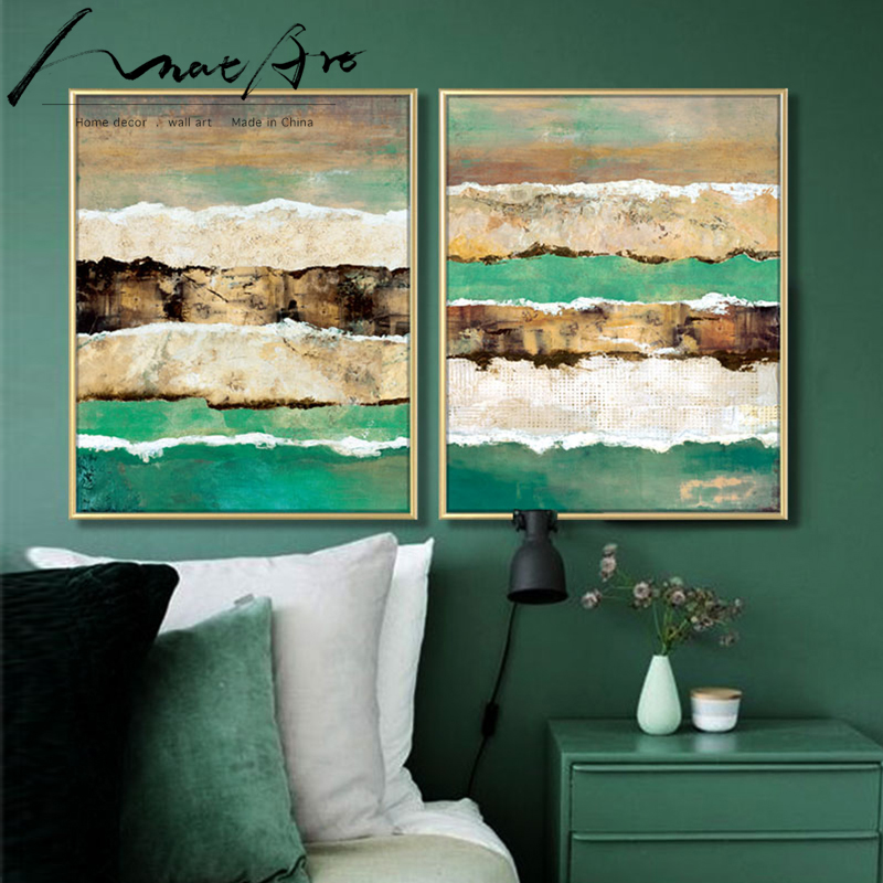Phenomenal Us 11 0 Abstract Painting Green Striped Poster Picture Wall Art Canvas Decor Living Room Decoration Modern Home Decoration Pop Art House In Painting Download Free Architecture Designs Embacsunscenecom