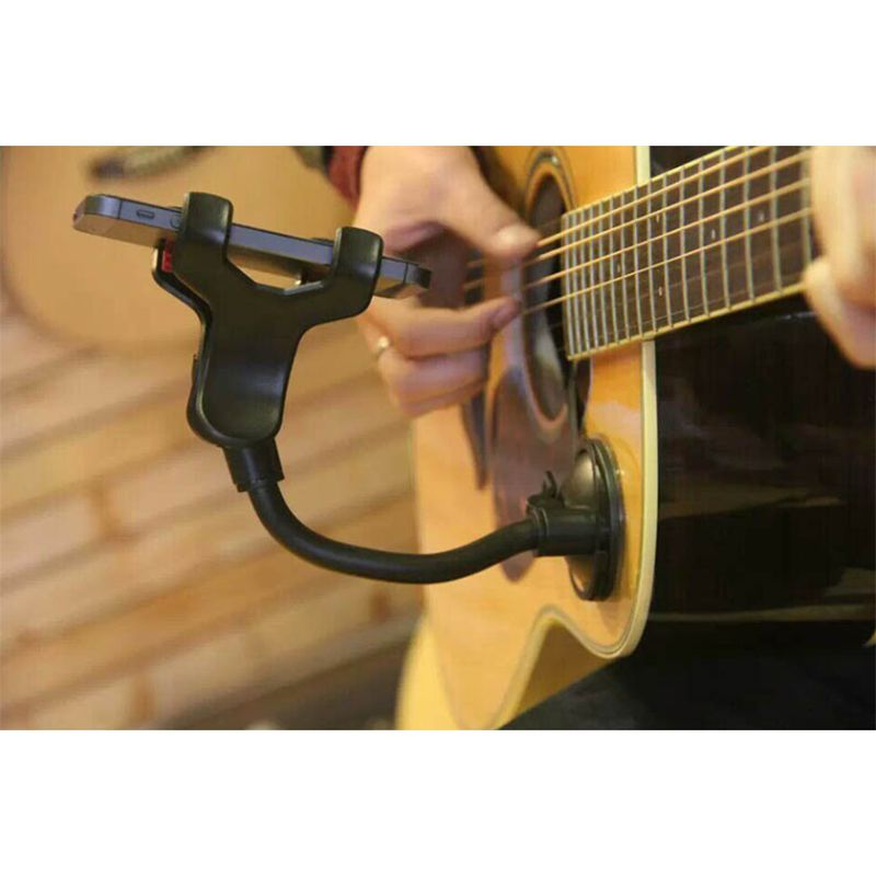 Foldable Guitar Stand Car Holder Mobile 360 Guitar bracket Outdoor Street Singing lyrics Song Holder Bracket Sucker Suction Cups ...