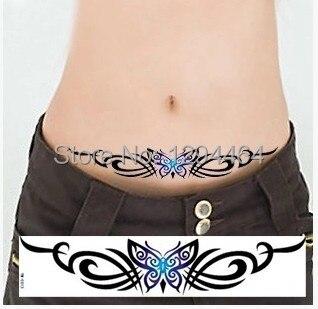 7pcs Lower Back Butterfly Tattoo Personalized Long Sexy Waist