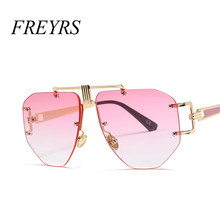Розовый негабаритных солнцезащитные очки Для женщин Мода Винтаж синий  коричневый Большой Оттенки для Для женщин бренд d713f35f70cd8
