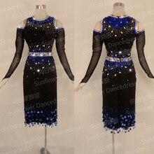 NEW Rumba Jive Chacha Latin Dancewear,ballroom dress,dance wear, fringe latin costume ,salsa dress,Competition Latin dance dress