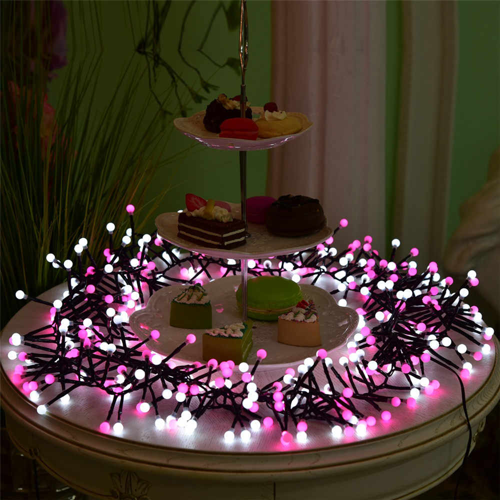 Pink Christmas Lights.Vnl Outdoor 8m 400 Led String Lights Changeable For Pink Xmas Garland Cafe Party Wedding Decoration Christmas Fairy Lights