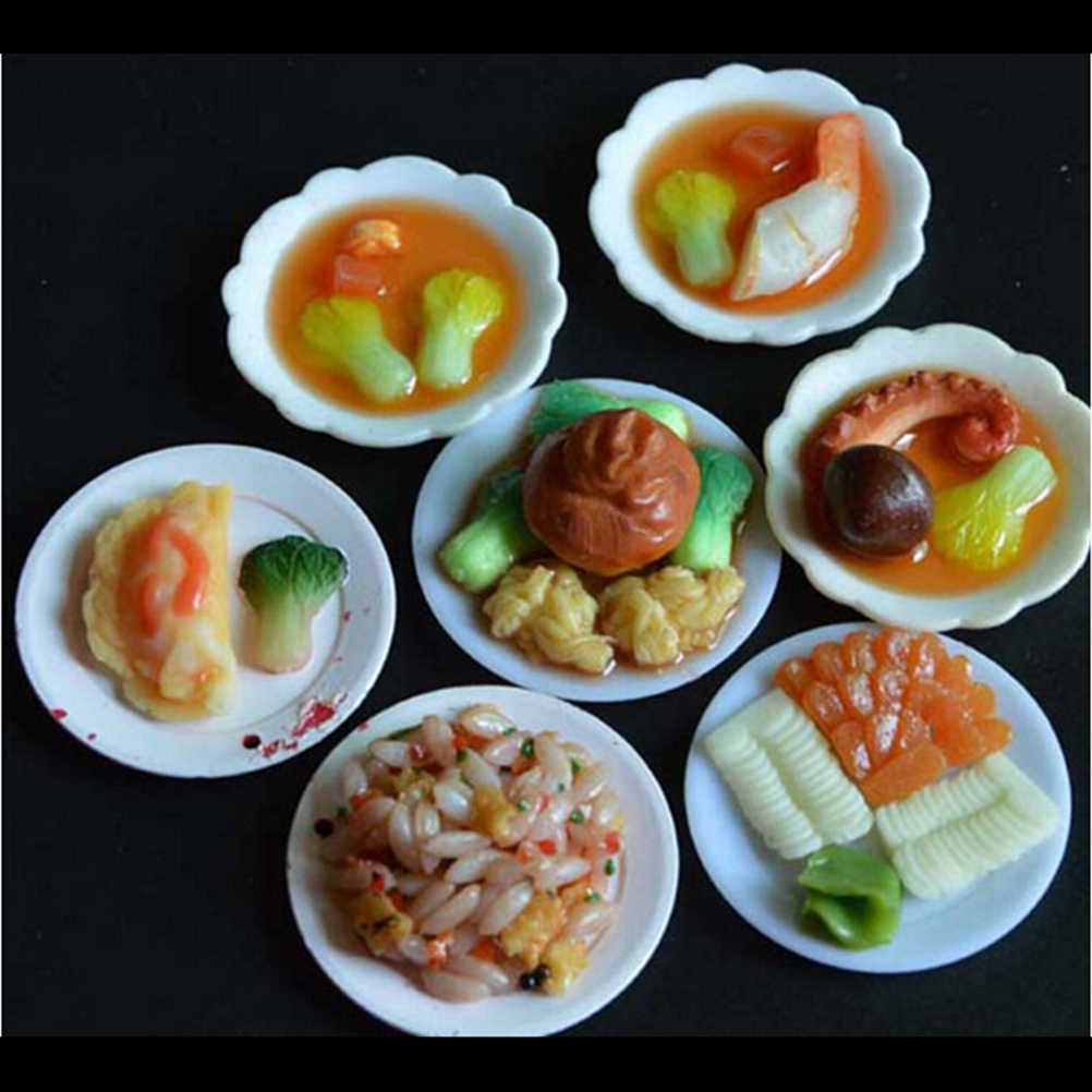 33PCS/Set Kitchen Mini Tableware Miniatures Cup Plate Dish Decor Toys for Doll Accessories Kids Girls Wholesale