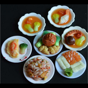 33PCS/Set Kitchen Mini Tableware Miniatures Cup Plate Dish Decor Toys for Doll Accessories Kids Girls Wholesale(China)