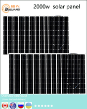 Boguang 2000w solar kit 20 100w Solar Panel Module cell connector 12v PV system battery power
