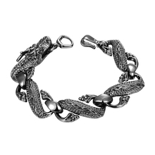 GIFT New Fashion Mens Punk Black Dragon Chain Bracelet Jewelry