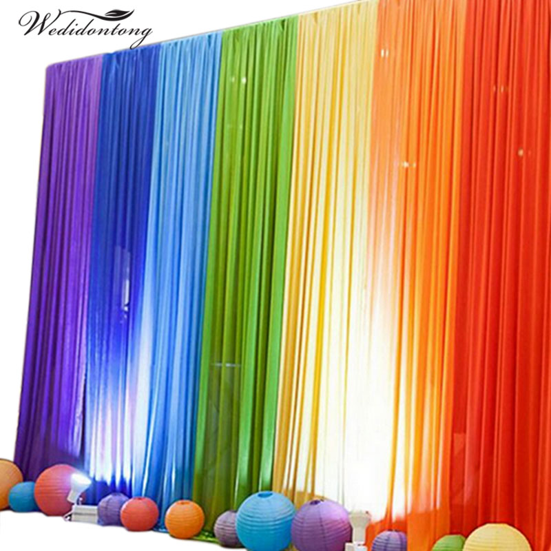 New Arrival 6mx3m Ice Silk Fabric Wedding Party Backdrop Curtain Stand For Birthday Evening