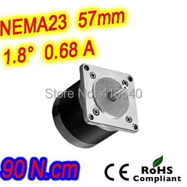 цена на Round shape 10 pieces per lot step motor 23HR30-0686S L 76 mm Nema 23 with 1.8 deg 0.68 A 90 N.cm and unipolar 6 lead wires