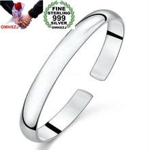 fa6920d1a438 OMHXZJ chino al por mayor de moda Simple mujer niño brillante Sutra del  Corazón de la pulsera de la plata esterlina 999 brazalet.