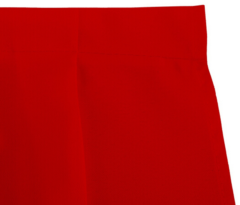 HK DHL Accordion Pleat Polyester Rectangular 500cm Table Skirt ROYAL RED for Ceremony Wedding, 5/Pack