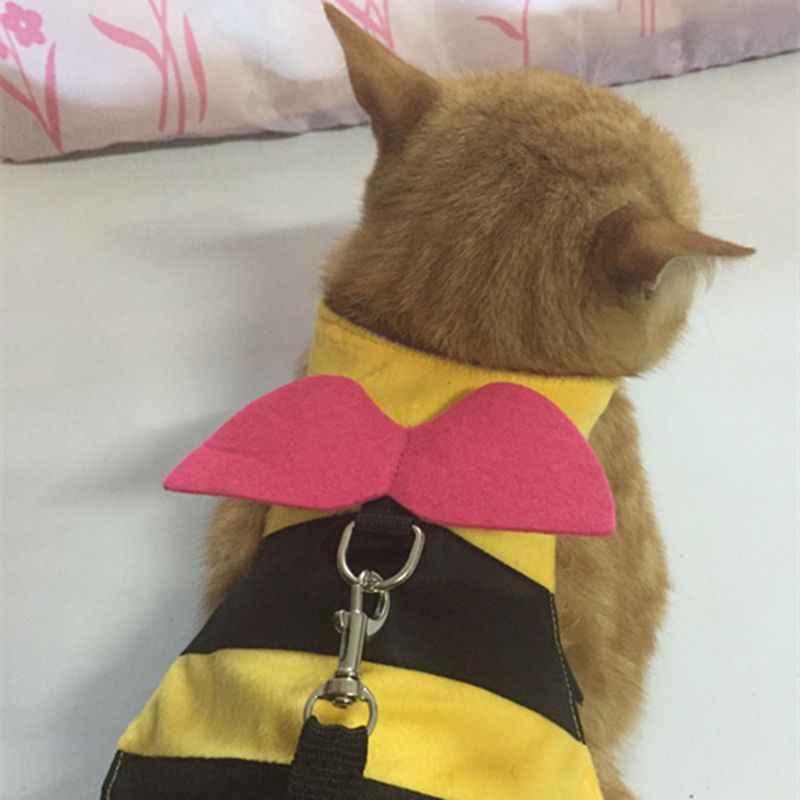 Cute Bee Shape Rabbit Vest Harness Small Pet Hamster Cat Harness Leash Strap