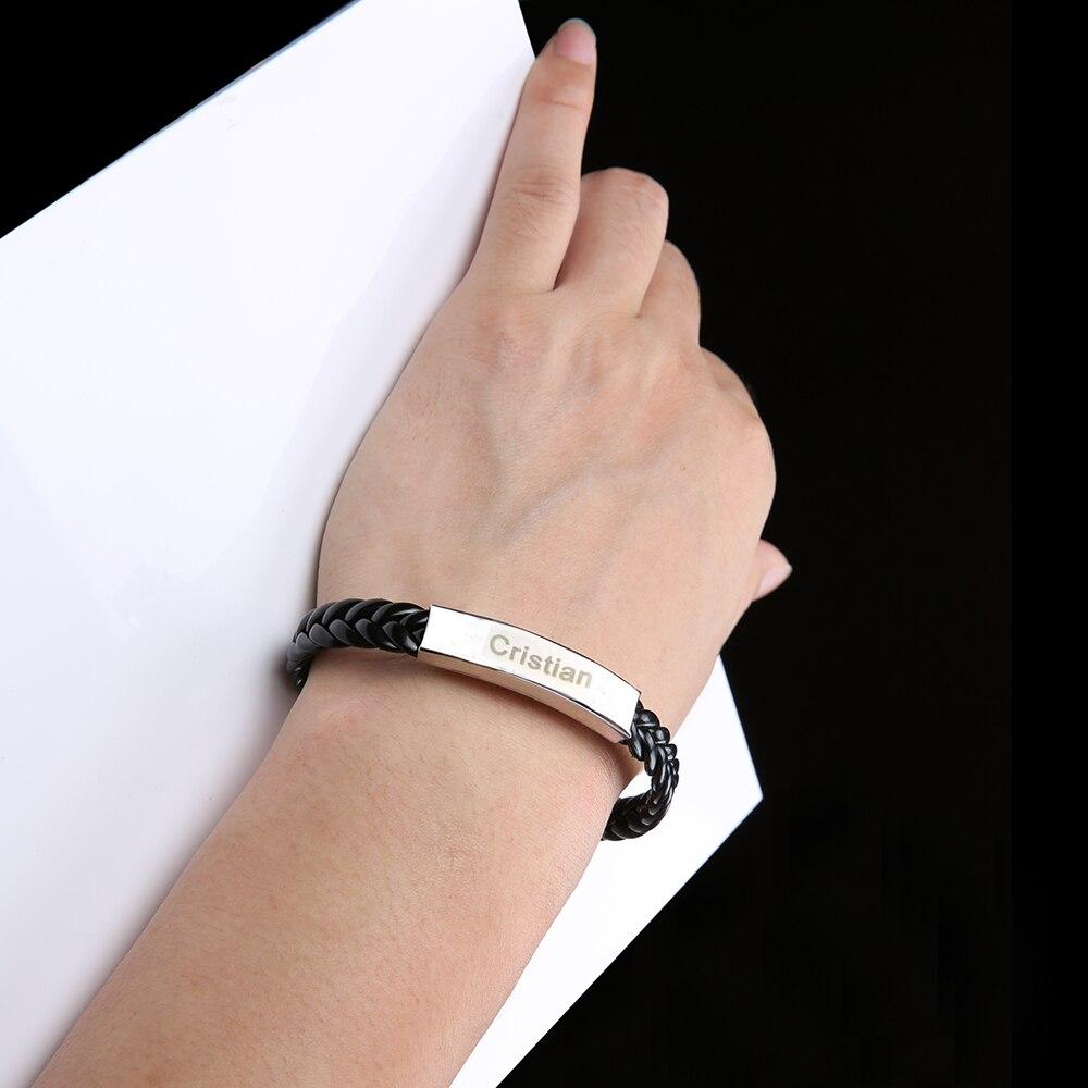 AZIZ BEKKAOUI tilpasset logo ID armbånd navn armbånd par armbånd - Mode smykker - Foto 4