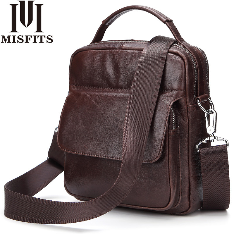 Genuine Leather Men Messenger Bag Hot Sale Male Small Man Fashion Crossbody Shoulder Bags Men's Travel New Handbags 8073 genuine leather men bags hot sale male small messenger bag man fashion crossbody shoulder bag men s travel new bags li 1850