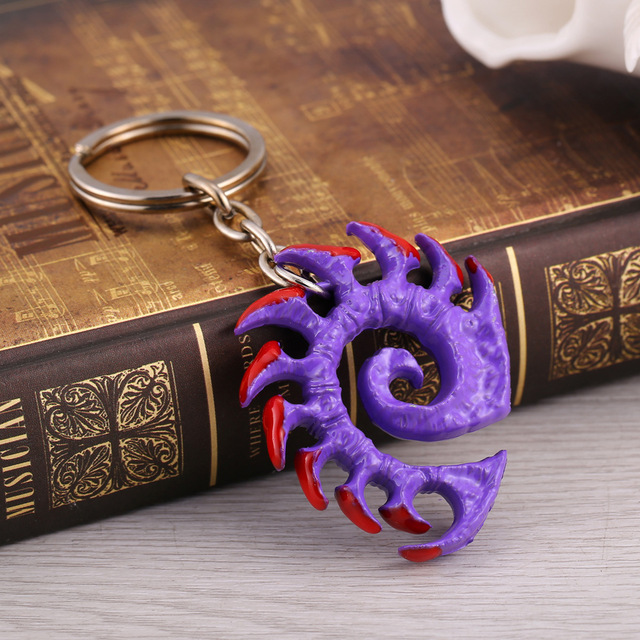 Movie Theme Game Jewelry Starcraft II 2 Keychain Wings of Liberty Terran Zerg Protoss Figure Symbol Key Chain Key Holder 5
