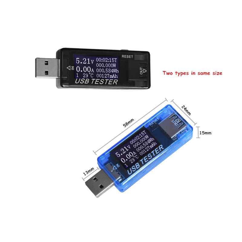 HTB1A54fdVmWBuNjSspdq6zugXXaP 8 in1 QC2.0 3.0 4-30v Electrical power USB capacity voltage tester current meter monitor voltmeter ammeter 40% off