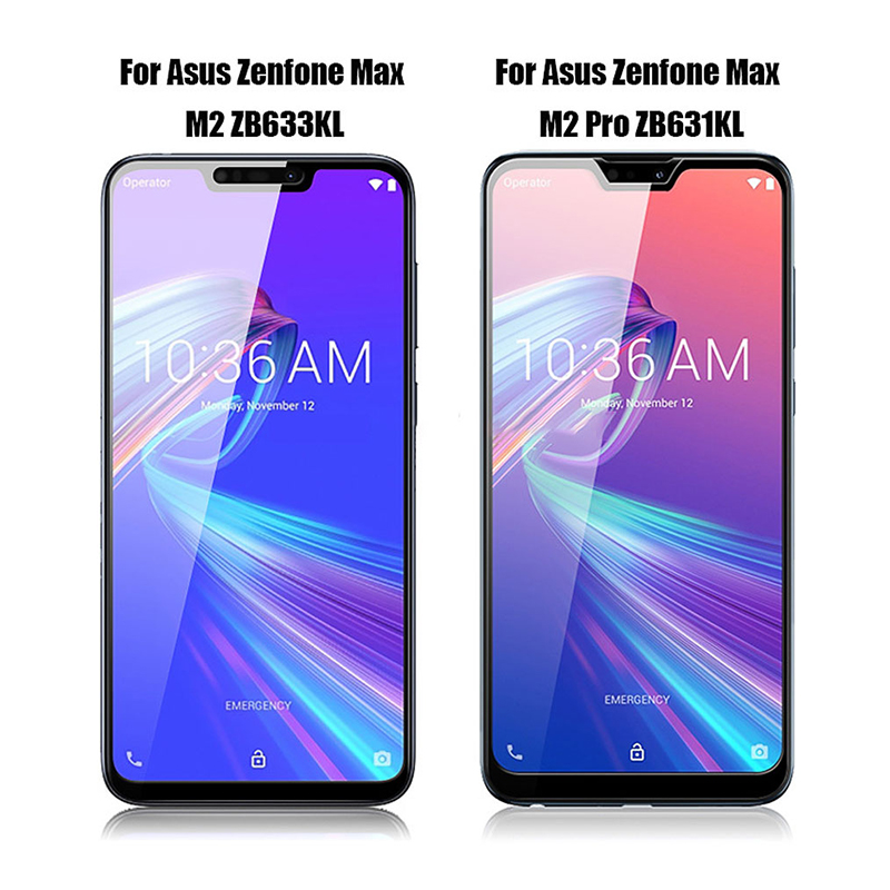 Image 2 - tempered glass For Asus Zenfone Max Pro M2 ZB631KL ZB633KL Cover Protective glass for zenfone Max pro m2 zb631kl Safety film-in Phone Screen Protectors from Cellphones & Telecommunications