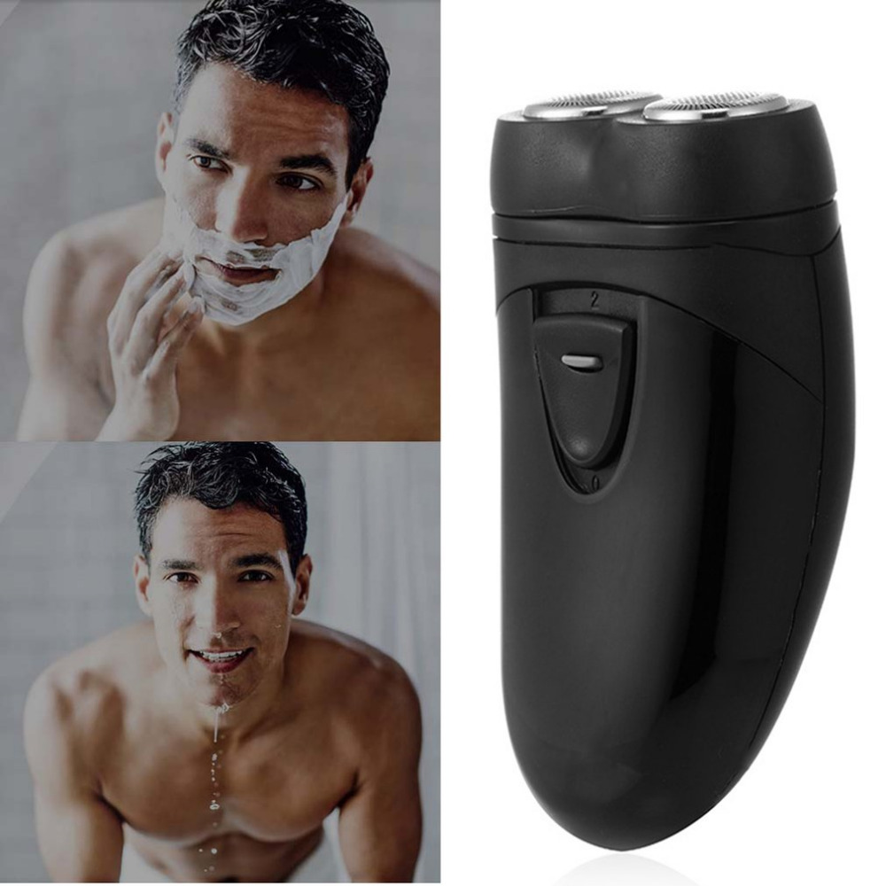 Cordless Electric Shaver Razor Beard Hair Clipper Battery Powered Multifunctional Double-headed With LED Lighting For Men