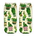 Novo 2016 Nova chegada Engraçado Aliens 3D Impressão meias das Mulheres meninas Meias Baixo Tornozelo Corte Meias de Algodão Bonito da banana Impresso meia