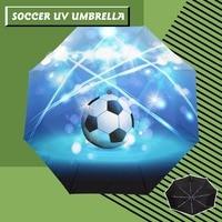 Anti UV Full Automatic Umbrella Rain Women Men 3 Folding Light And Durable Soccer Umbrellas Kids